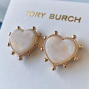 Tory Burch-heart cloudy earrings